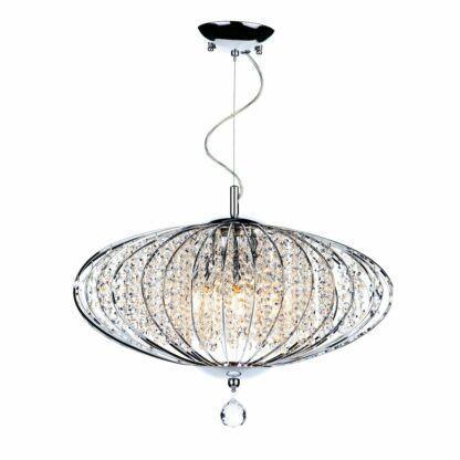 kryształowa lampa do salonu