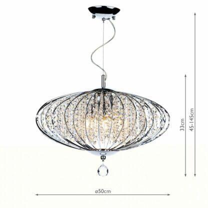 lampa glamour z kryształkami