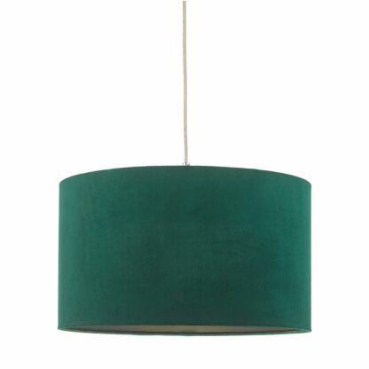 zielony abażur aksamitny