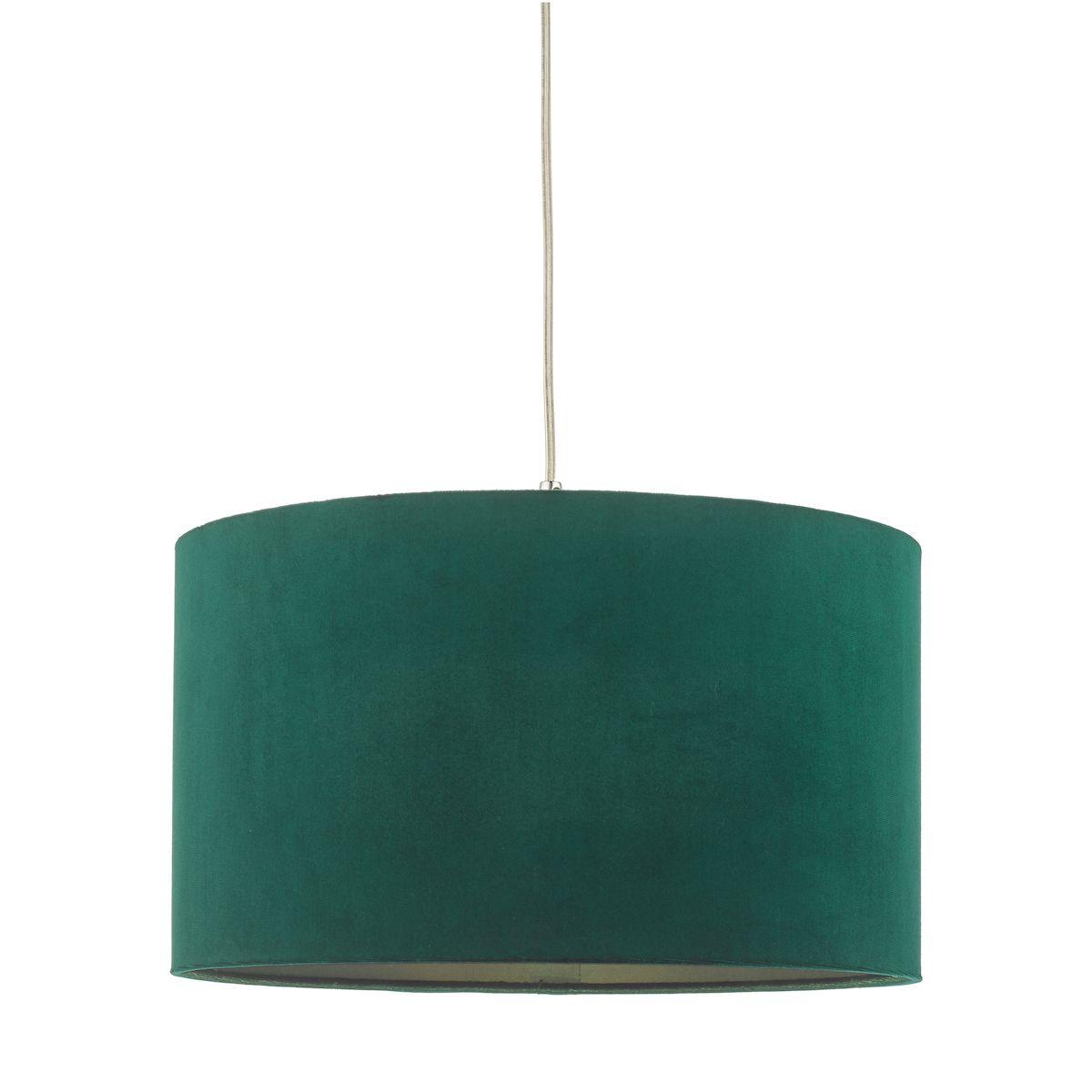 zielony welurowy abażur