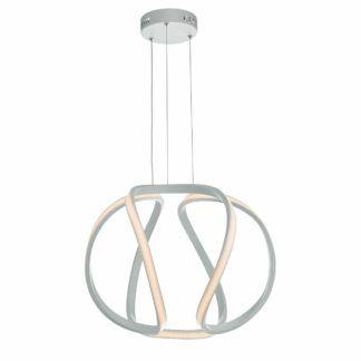 Mała lampa wisząca Alonsa - biała, LED