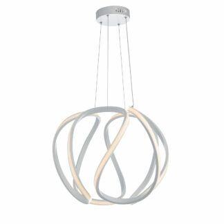 Duża lampa wisząca Alonsa - LED, biała