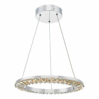 Lampa wisząca Altamura - LED, chrom, kryształki