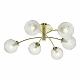 Lampa sufitowa Avari - złota, szklane klosze
