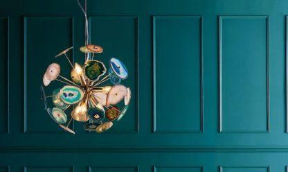 luksusowa lampa z agatu aranżacja