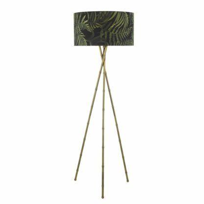 lampa podłogowa tripod złota