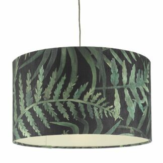 Abażur Bamboo - zielony print