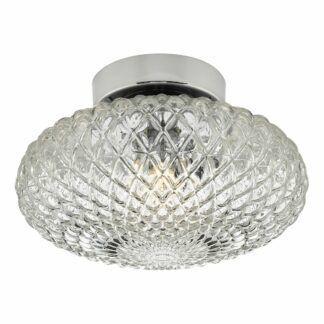 Lampa sufitowa / kinkiet Bibiana S - szklany klosz, chrom