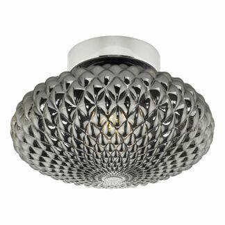 Lampa sufitowa / kinkiet Bibiana - szare szkło