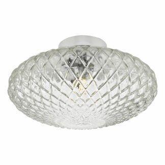 Plafon / kinkiet Bibiana - transparentne szkło, duży klosz