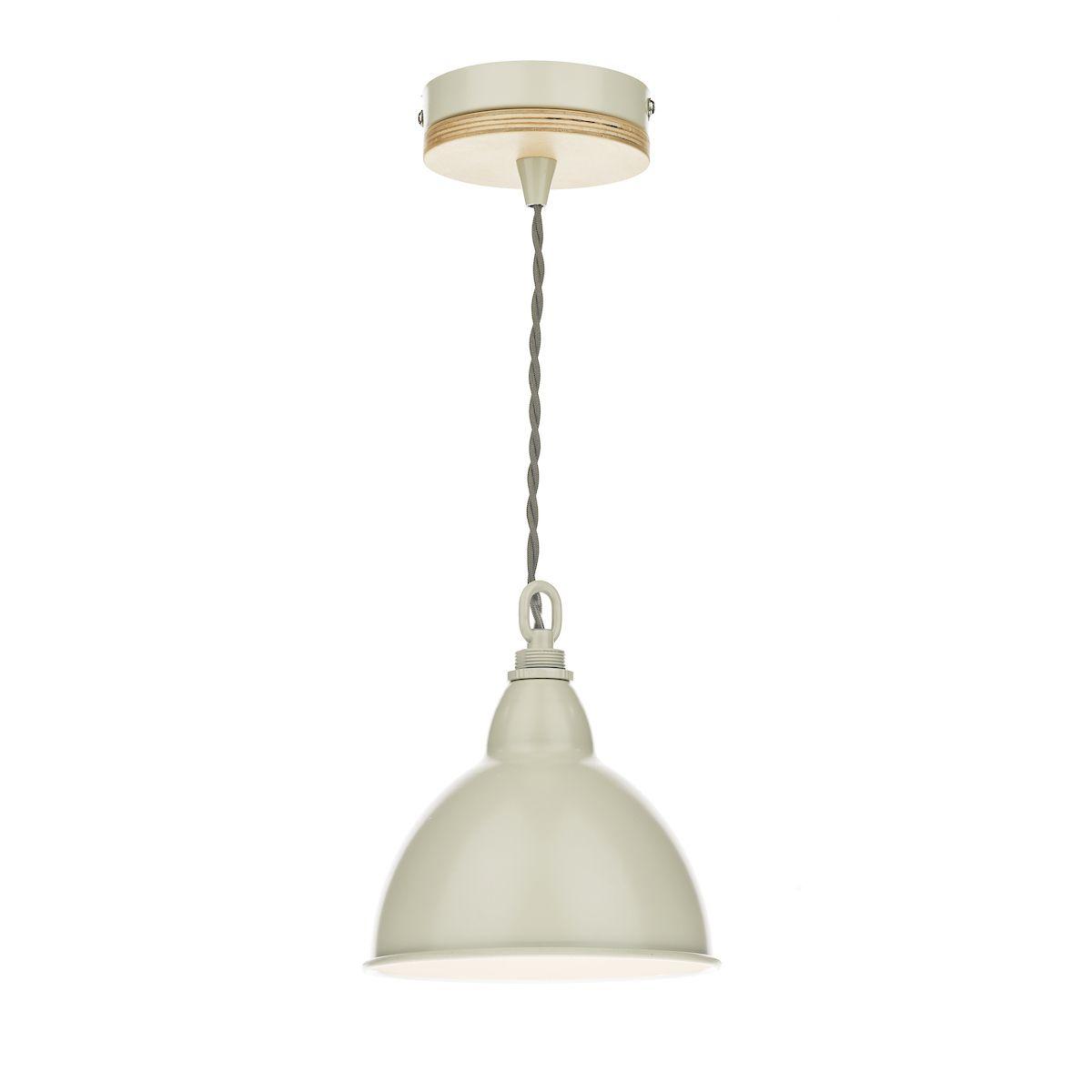 kremowa lampa wisząca