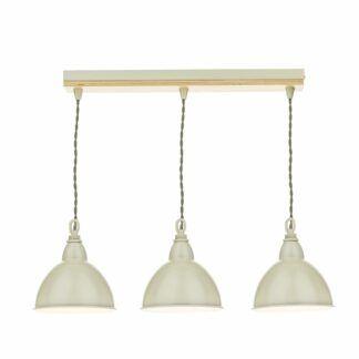 Podłużna lampa wisząca Blyton - kremowa