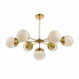 Nowoczesny żyrandol Bombazine - szklany, złoty