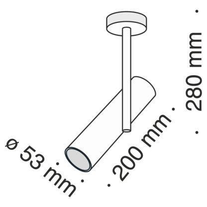 Biały reflektor sufitowy Elti - regulowana głowica