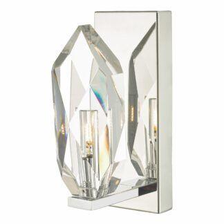 Srebrny kinkiet Crystal - kryształowy klosz