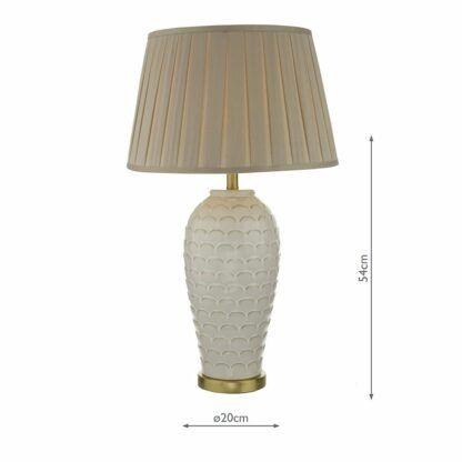 stołowa lampa kremowa ceramiczna