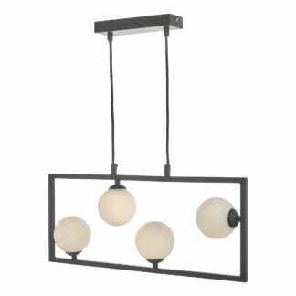 Lampa wisząca Ensio - czarny mat, nowoczesna