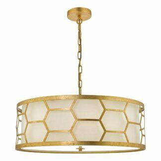Elegancka lampa wisząca Epstein - złota oprawa