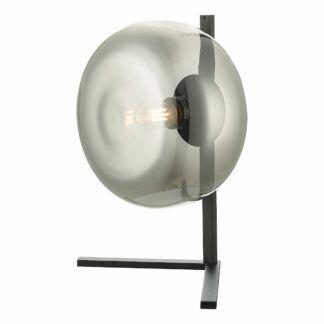 Lampa stołowa Erla - dymione szkło