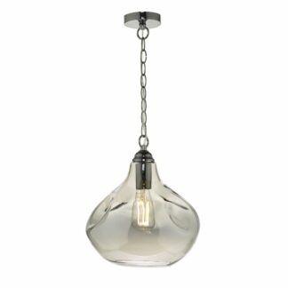 Lampa wisząca Esarosa - szklana, czarny chrom
