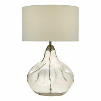 Lampa stołowa Esarosa - szklana, z abażurem