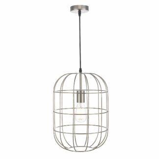 Lampa wisząca Eudora - srebrna, klatka