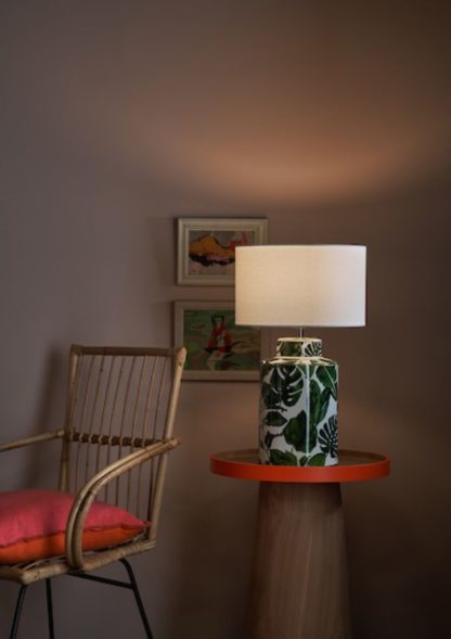 ceramiczna lampa motyw liści