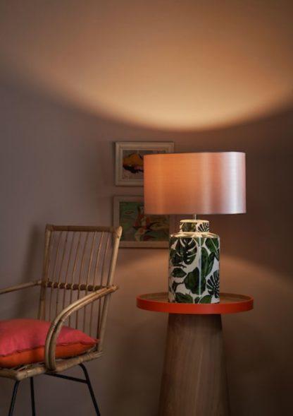 lampa stołowa w liście aranżacja