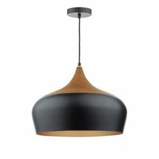Duża lampa wisząca Gaucho - czarny klosz