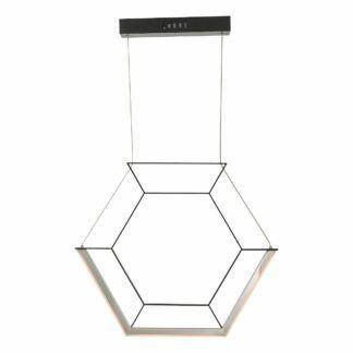 Lampa wisząca Hexagon - czarna, LED