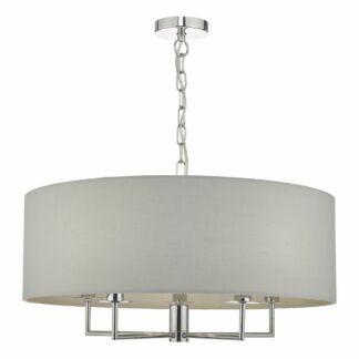 Duża lampa wisząca Jamelia - szary abażur