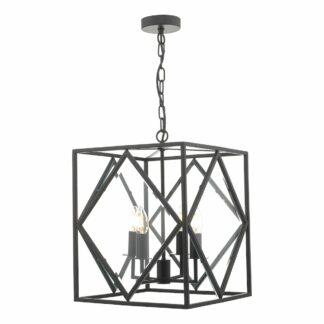 Lampa wisząca Japsen - czarny mat, szkło
