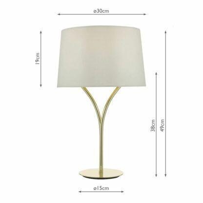 lampa stołowa z jasnym abażurem