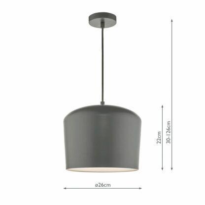 szara lampa wisząca metalowa