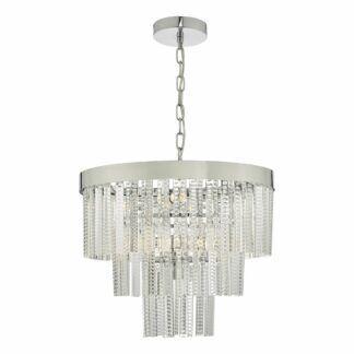 Lampa wisząca Lorant - chrom, szkło