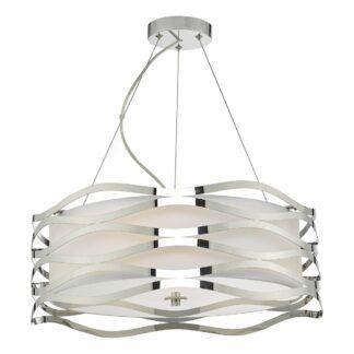 Nowoczesna lampa wisząca Mizella - chrom