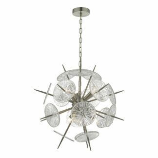 Oryginalna lampa wisząca Nabila - szklane elementy