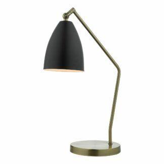 Elegancka lampa biurkowa Olly - złoto, czerń