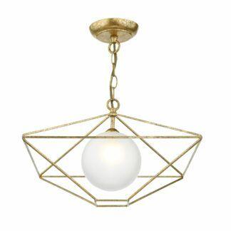 Lampa wisząca Orsini - złota, szklana kula