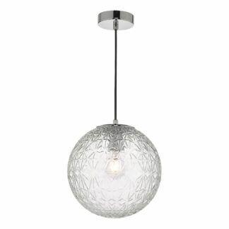 Szklana lampa wisząca Ossian - mała kula