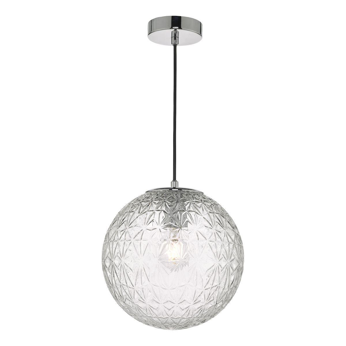lampa wisząca szklana kula