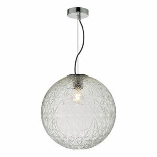 Szklana lampa wisząca Ossian - duża kula