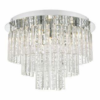 Lampa sufitowa Paulita - szkło, chrom, IP44