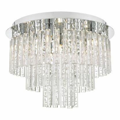 szklany plafon w stylu glamour