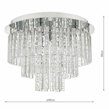 szklana lampa sufitowa do sypialni