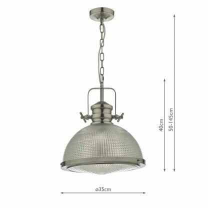 srebrna industrialna lampa wisząca
