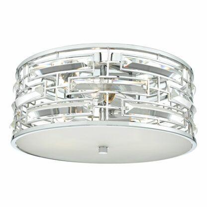 srebrny plafon z kryształami