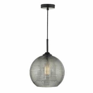 Lampa wisząca Soren - dymione szkło
