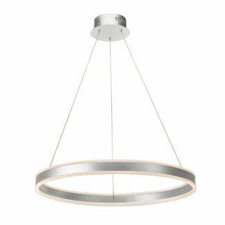 Lampa wisząca Tybalt - srebrny ring, LED