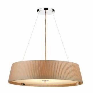 Elegancka lampa wisząca Wheel - beżowy abażur